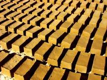 Briques sèches de boue Photo stock
