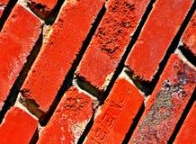 Briques, texture rouge, diagonale, brute, grunge photographie stock