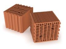 Briques thermo enclenchées photographie stock