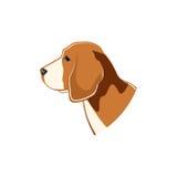 Briquet, chien Illustration de vecteur Images stock