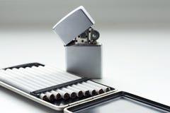 briquet de cigarettes Photographie stock