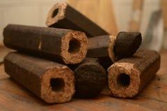 Briqueta marrón octagonal Fotografía de archivo libre de regalías