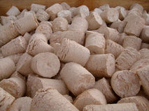 Briquetas de madera imagen de archivo
