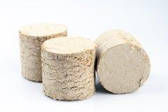 Briquetas de madera aisladas en el fondo blanco fotos de archivo libres de regalías
