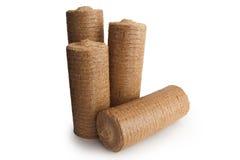 briquetas de madera de la energía del serrín Fotos de archivo
