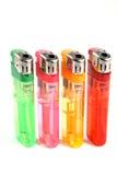 Briquets à gas colorés photos libres de droits