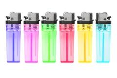 Briquets à gas en plastique remplaçables Photos stock
