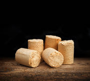 Briquettes for firing furnaces Royalty Free Stock Images