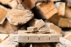 Briquettes for firing, ignition Stock Photography