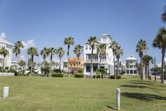 Brisa e mar da praia de Galveston imagens de stock royalty free