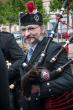 BRISACH - France - 1 May 2017 - Traditional Scottish musician  a Stock Photo
