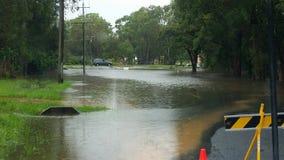 Brisbane überschwemmt birkdale Stockbild