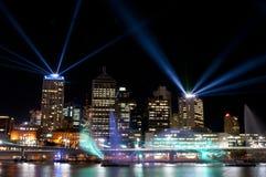 Город светов, Brisbane, Австралия Стоковые Фото