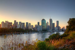 Brisbane. CBD from Kangaroo Point stock image