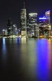 Brisbane alla notte Immagine Stock