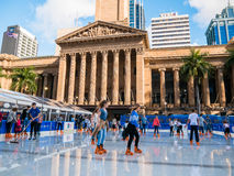 BRISBANE, AUS - 24. JUNI 2016: Winter-Festival in Brisbane, outdoo Stockfotografie
