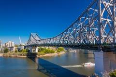 BRISBANE, AUS - MAY 12 2015: Brisbane Skyline with Story Bridge Royalty Free Stock Image