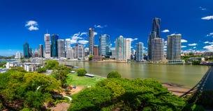 BRISBANE, AUS - NOV 18 2015: Panoramic view of Brisbane Skyline Stock Photo
