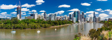 Brisbane, AUS - 18 NOV 2015: Panoramic view from Kangaroo point Stock Photography