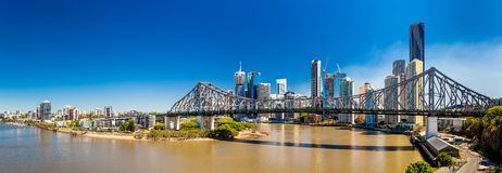 BRISBANE, AUS - 9 SEPTEMBER 2015: Panorama van de Hemel van Brisbane Stock Afbeeldingen