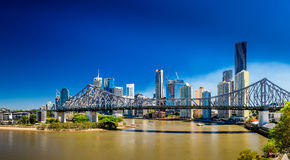 BRISBANE, AUS - SEPTEMBER 9 2015: Panoramic view of Brisbane Sky Stock Images