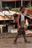 BRISBANE, AUSTRÁLIA - JANEIRO 14: Inundação Fotos de Stock Royalty Free