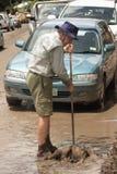 BRISBANE, AUSTRÁLIA - JANEIRO 14: Inundação Foto de Stock Royalty Free