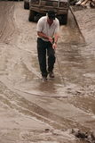 BRISBANE, AUSTRÁLIA - JANEIRO 14: Inundação Fotos de Stock