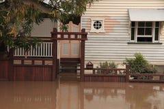 BRISBANE, AUSTRALIË - 13 JANUARI: Vloed Stock Foto