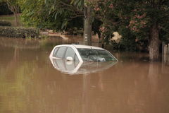 BRISBANE, AUSTRALIË - 13 JANUARI: Vloed Stock Afbeeldingen