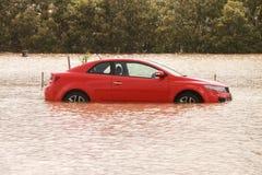 BRISBANE, AUSTRALIA - 12 DE ENERO: Inundación imagenes de archivo
