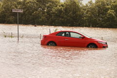 BRISBANE, AUSTRALIA - 12 GENNAIO: Inondazione Fotografia Stock Libera da Diritti