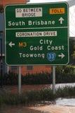 BRISBANE, AUSTRALIA - 13 DE ENERO: Inundación Fotografía de archivo