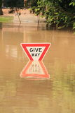 BRISBANE, AUSTRALIA - 13 GENNAIO: Inondazione Fotografia Stock Libera da Diritti