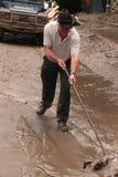 BRISBANE, AUSTRALIA - 14 DE ENERO: Inundación foto de archivo libre de regalías
