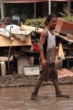 BRISBANE, AUSTRALIA - 14 GENNAIO: Inondazione Fotografie Stock Libere da Diritti