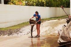 BRISBANE, AUSTRALIA - 14 GENNAIO: Inondazione Immagini Stock
