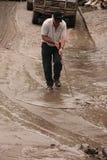 BRISBANE, AUSTRALIA - 14 GENNAIO: Inondazione Fotografie Stock