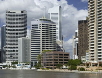 Brisbane - Australia. Business District in the city of Brisbane in Australia. Brisbane is the state capital of Queensland Royalty Free Stock Photography