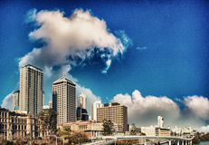 Brisbane, Australia. City skyline and skyscrapers with beautiful Royalty Free Stock Photos