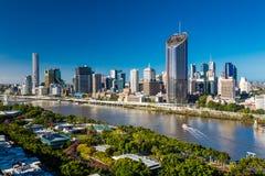 BRISBANE, AUSTRALIA - 29 dicembre 2016: Immagine areale di Brisbane CBD a Fotografia Stock