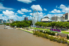 BRISBANE, AUSTRALIA - FEB 12, 2016: Southbank Parklands and the Stock Image