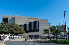 QPAC music and theatre venue on the Brisbane South Bank. Brisbane, Australia - July 9, 2017: Queensland Performing Arts Centre or QPAC on the South Bank of Royalty Free Stock Image