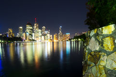 BRISBANE, AUSTRALIA - 27 MAY 2015: The inner-city of Brisbane City and river view  from Kangaroo Point on 27th May 2015. Stock Photography