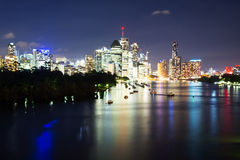 BRISBANE, AUSTRALIA - 27 MAY 2015: The inner-city of Brisbane City and river view  from Kangaroo Point on 27th May 2015. Royalty Free Stock Image