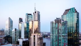 Brisbane Australia miasta linii horyzontu czasu upływ od dnia noc zbiory wideo