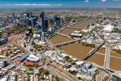 BRISBANE, AUSTRALIA - NOVEMBER 11 2014: View of Brisbane from ai Stock Photos