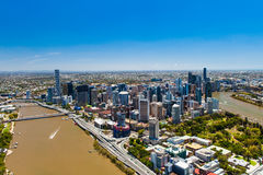 BRISBANE, AUSTRALIA - NOVEMBER 11 2014: View of Brisbane from ai Royalty Free Stock Images