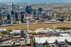 BRISBANE, AUSTRALIA - NOVEMBER 11 2014: View of Brisbane from ai Royalty Free Stock Photo