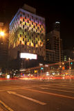 Brisbane, Australia - October 25th, 2014: Colour The City, visual light display in Brisbane City for the G20 meeting. Stock Photo